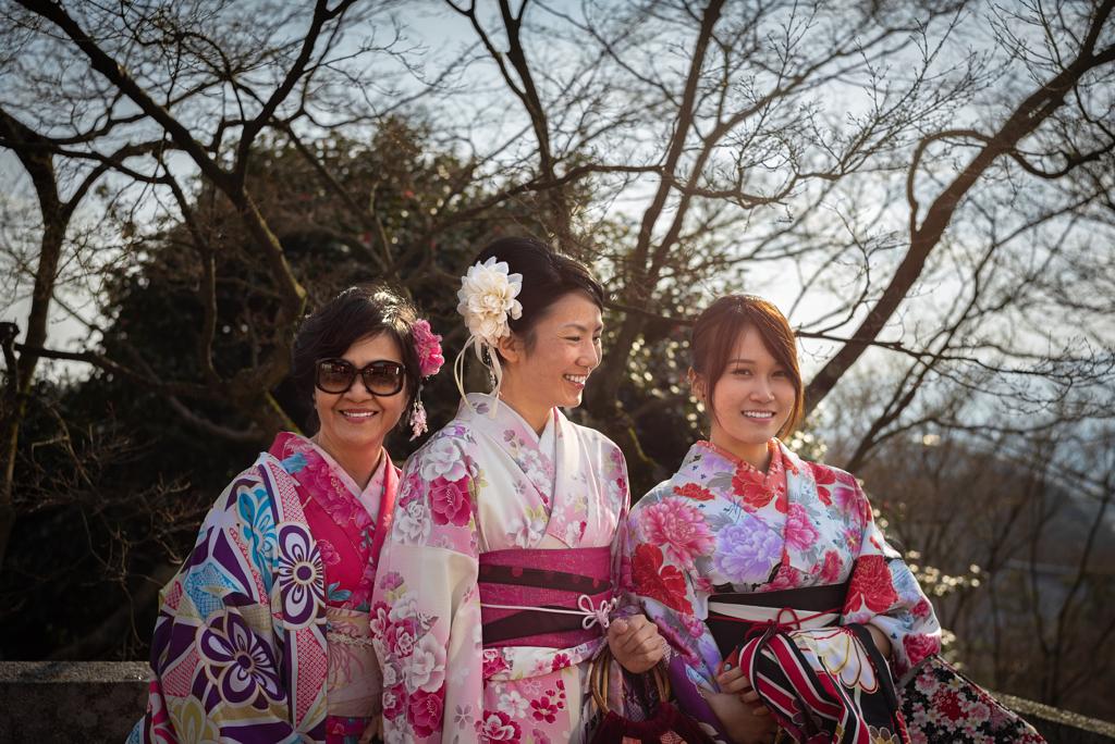لبس تقليدي ياباني في كيوتو