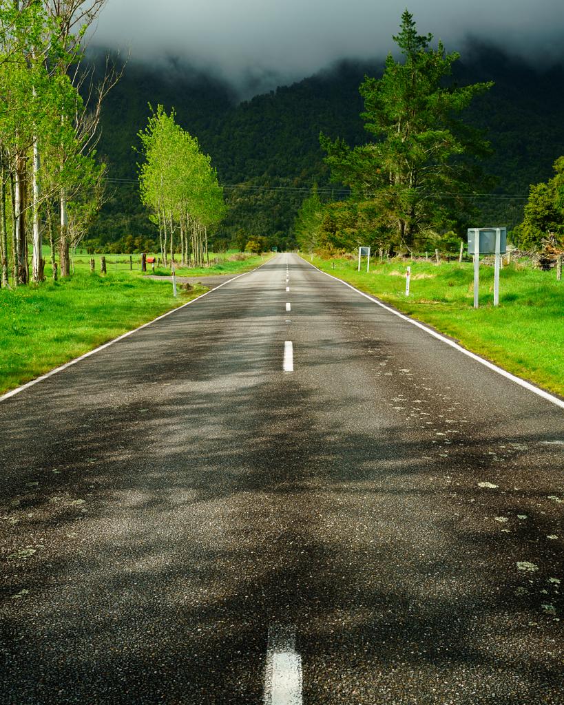 الطريق من فوكس قلاسير إلى مدينة كرايستشيرتش