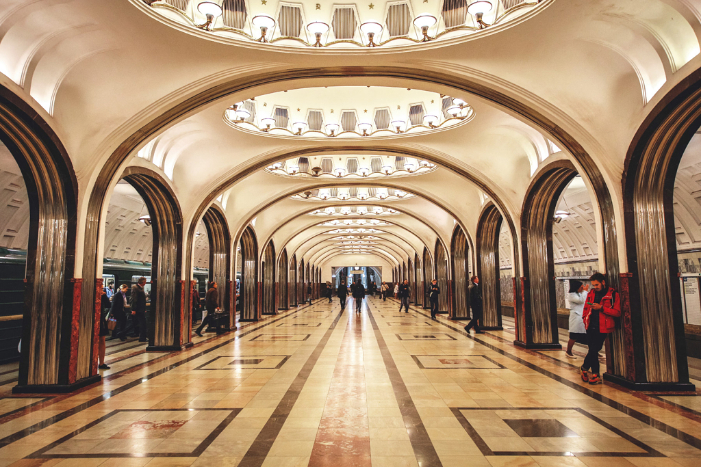 محطة Mayakovskaya في موسكو - Lingxiao Xie