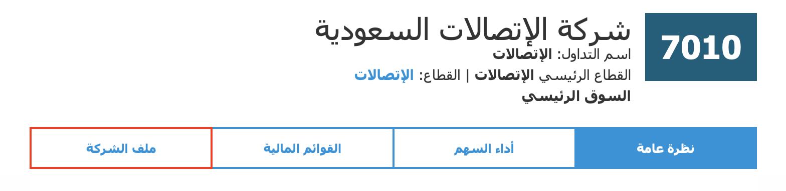 ملف شركة الإتصالات السعودية